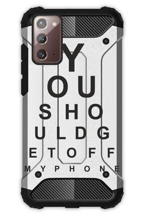 Cekuonline Samsung Galaxy Note 20 Kılıf Desenli Antishock Crash Kapak - Dr.eye 0