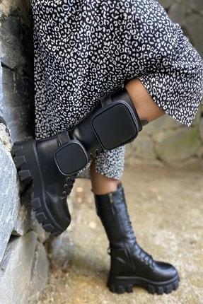 İnan Ayakkabı Bayan Yan Tarafı 2 Adet Cep Detaylı Fermuarlı Çizme 3