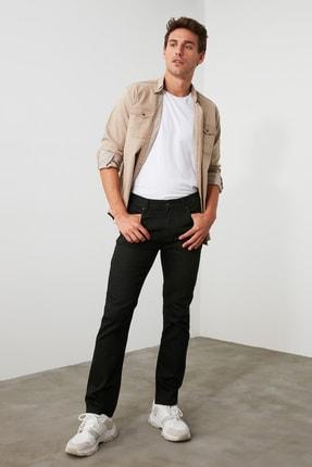 TRENDYOL MAN Siyah Erkek Straight Jeans TMNAW20JE0002 2