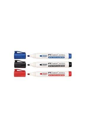 Faber Castell Tahta Kalemi 3'lü (Siyah,Mavi,Kırmızı) 1