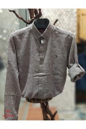Redline Erkek Uzun Kol Keten Gömlek 2276 0