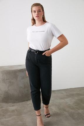 TRENDYOLMİLLA Siyah Yüksek Bel Mom Jeans TWOSS20JE0108 1