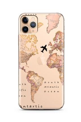 Spoyi Transparan Harita Tasarım Süper Şeffaf Silikon Telefon Kılıfı Iphone 11 Pro 0