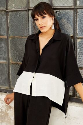 Mispacoz Kadın Siyah Salaş Gömlekli Takım 4