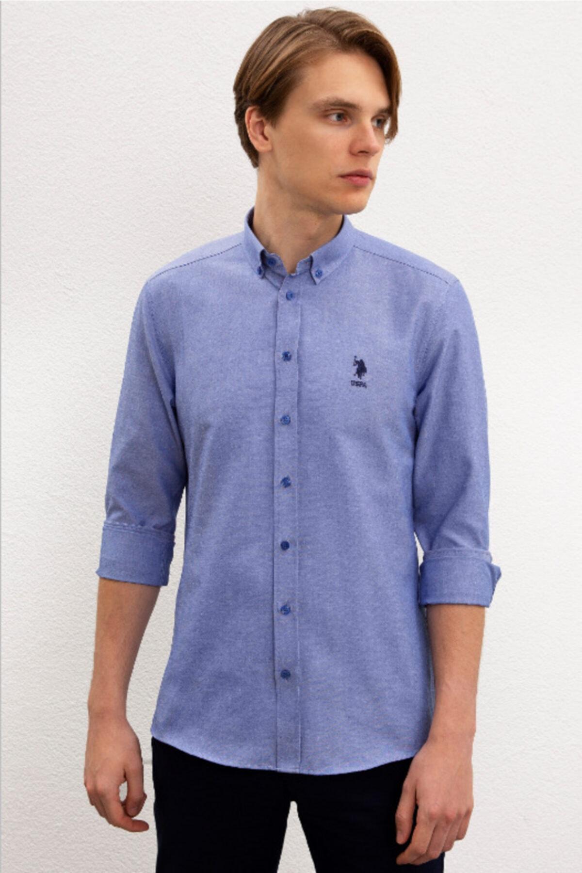 Sax Mavi Erkek Gömlek