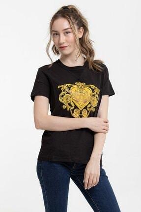 Versace %100 Pamuklu Logo&desen Baskılı Kadın T-shirt 0