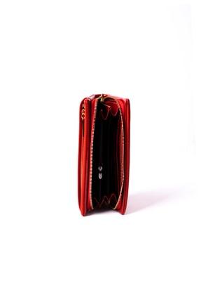 OPSLET Kırmızı Kadın Cüzdan Ops110 2