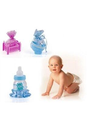 Pi İthalat Mavi  Bebek Mevlüt Şekeri Biberon 1