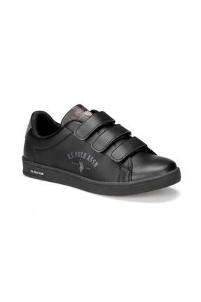 US Polo Assn Siyah Cırtlı Sneaker Ayakkabı 0