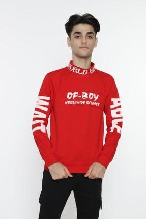 piccolomondokids Erkek Çocuk Kırmızı Balıkçı Yaka Sweatshirt Art007k 2