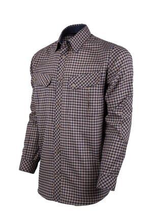 VAV Erkek Lacivert Bej Tactical Ekose Yazlık Gömlek Basetac-01 1