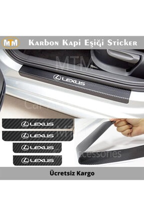 Adel Lexus Karbon Kapı Eşiği Sticker (4 Adet) 0
