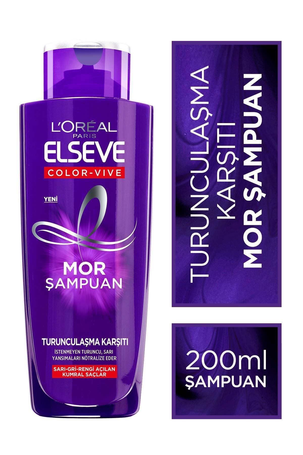 Elseve L'oréal Paris Elseve Turunculaşma Karşıtı Mor Şampuan 200ml 0