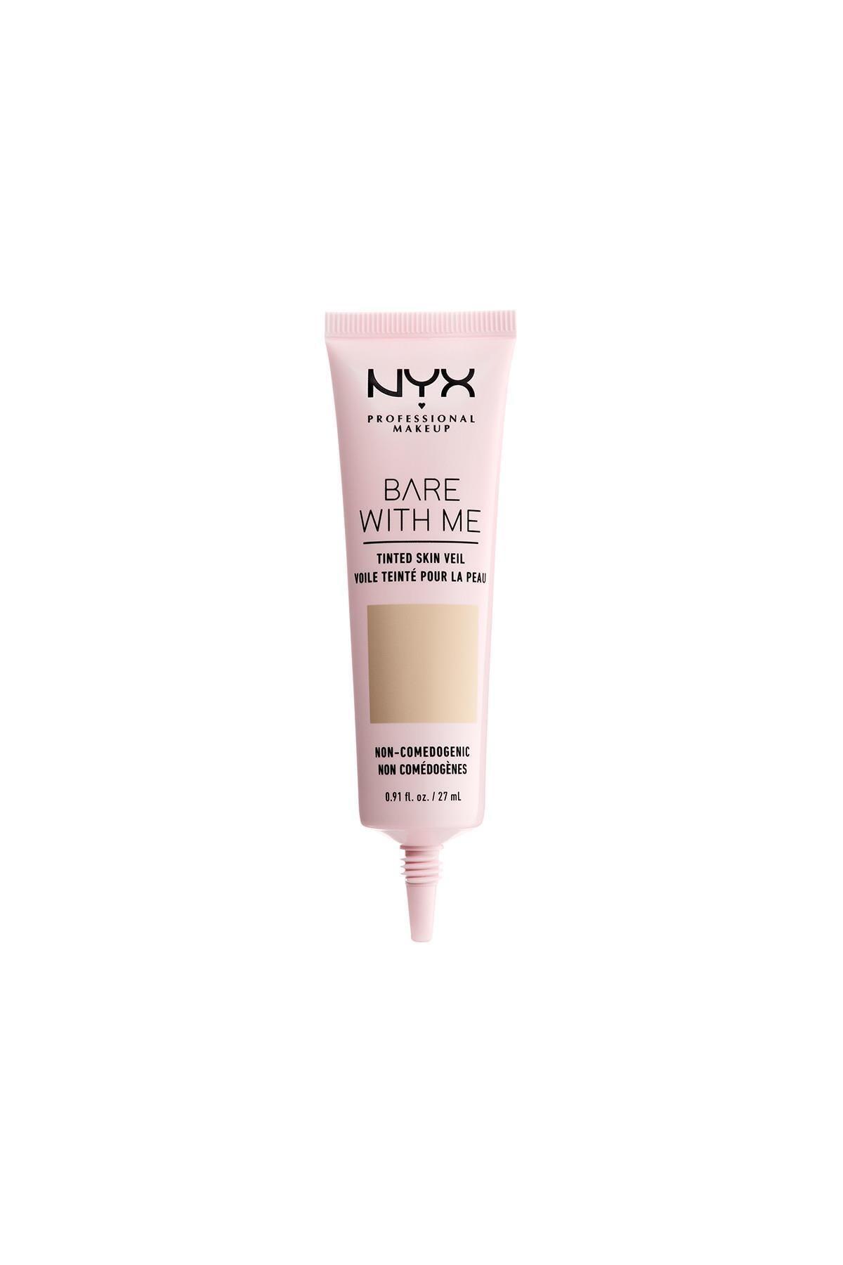 NYX Professional Makeup Renkli Nemlendirici - Bare With Me Skin Veil 02 Vanilla Nude 800897188221 1