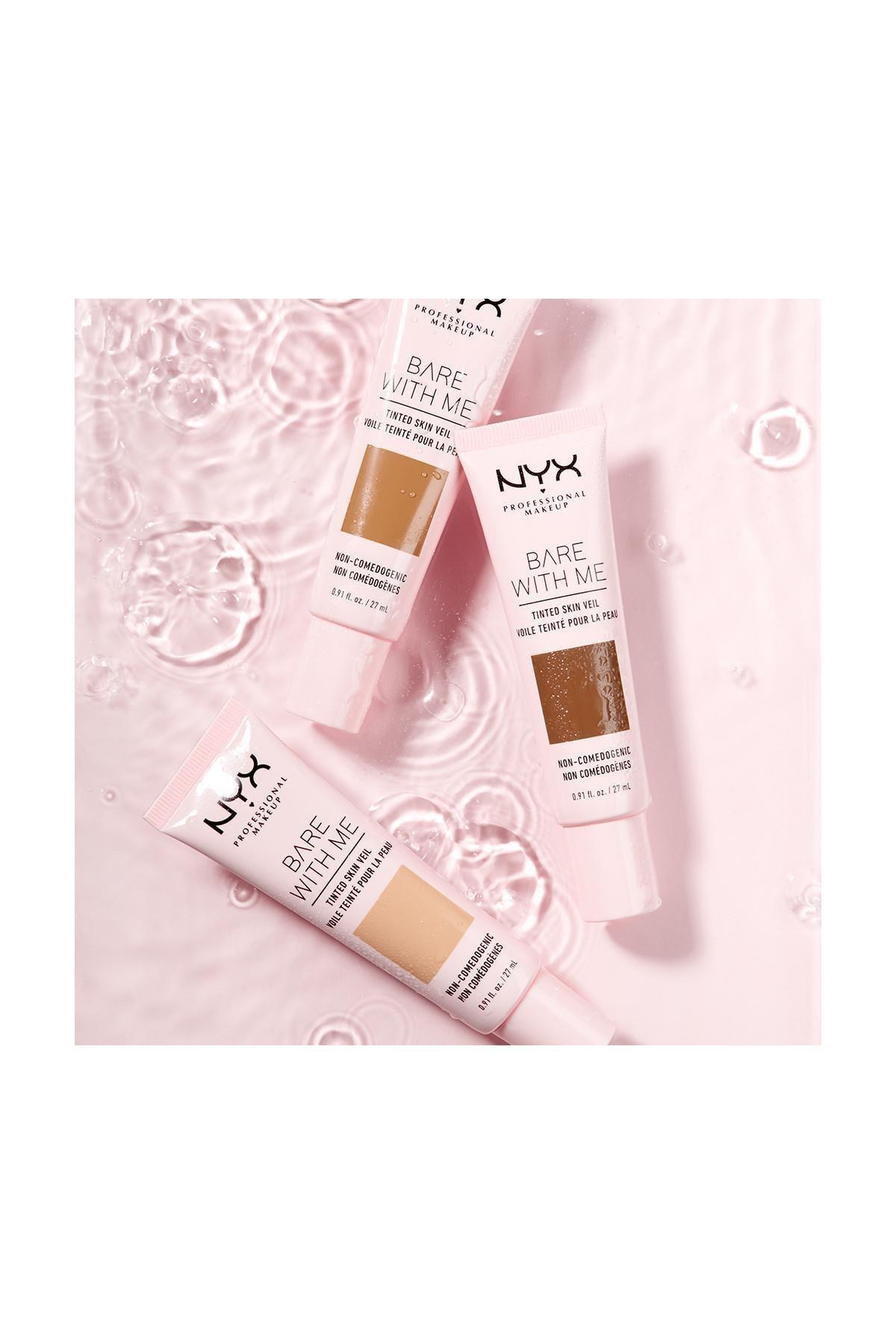 NYX Professional Makeup Renkli Nemlendirici - Bare With Me Skin Veil 02 Vanilla Nude 800897188221 4