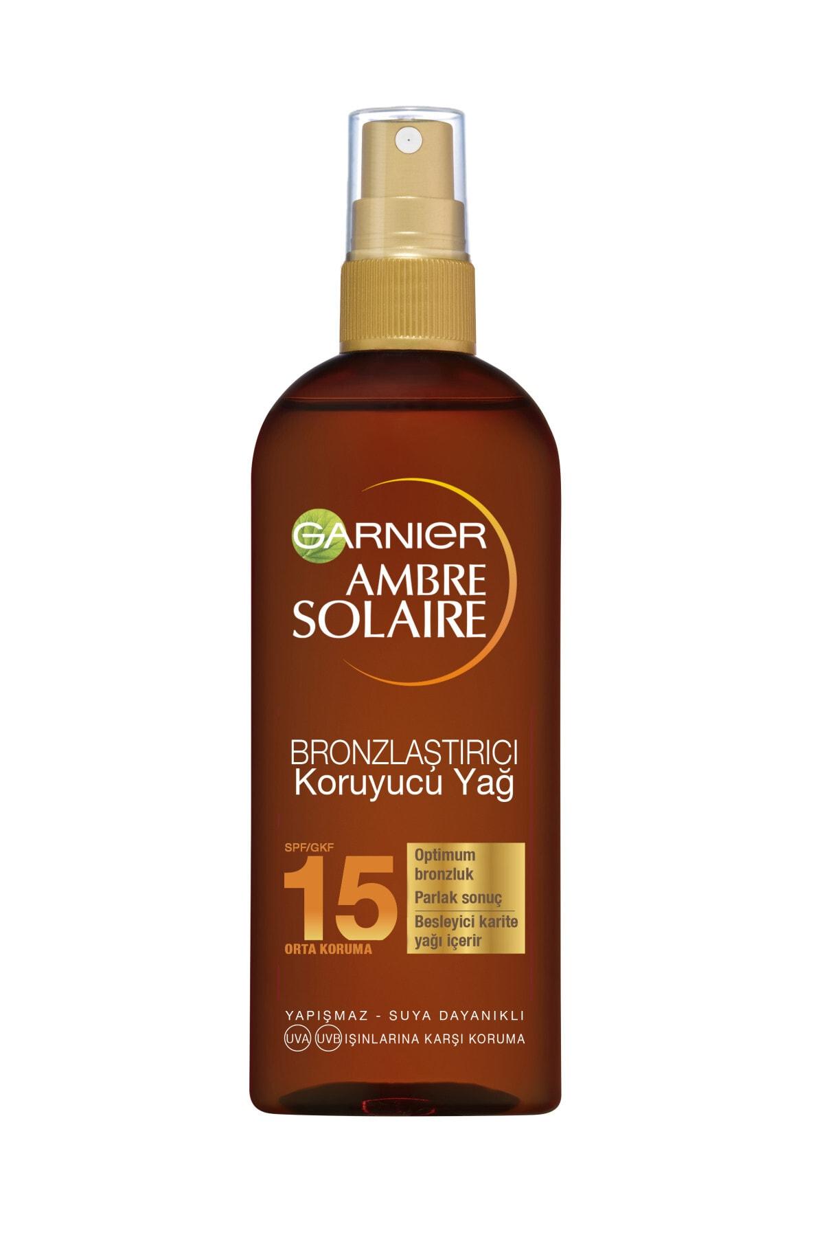 Garnier Ambre Solaire Bronzlaştırıcı Koruyucu Yağ Spf15 150ml 1