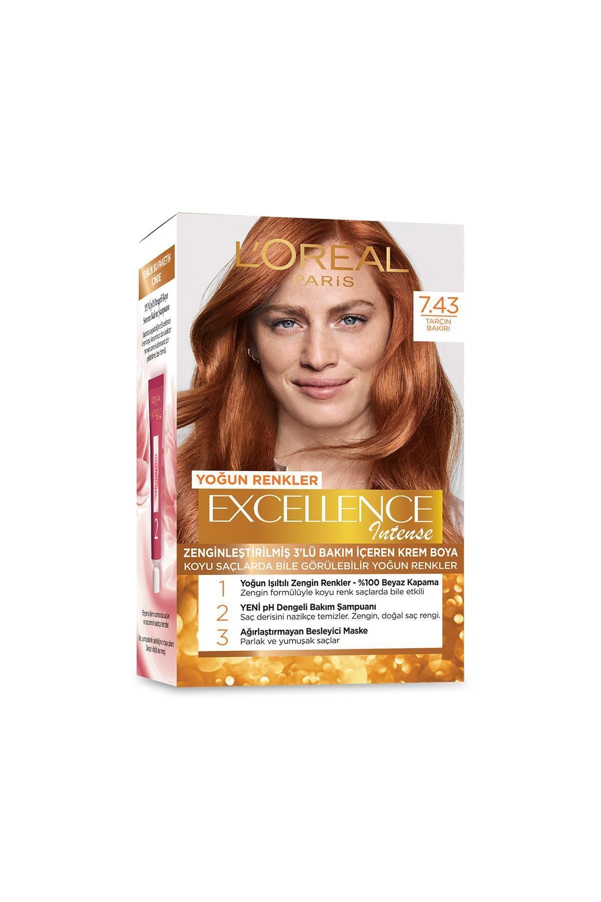 L'Oreal Paris Saç Boyası - Excellence Intense 7.43 Tarçın Bakır 3600522822318 0