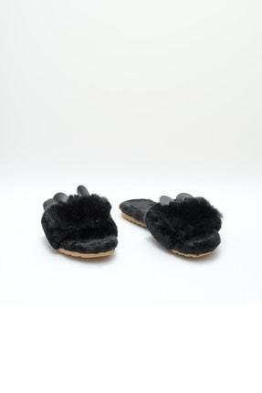 OCT Shoes Siyah Kulaklı Peluş Terlik 1028 2