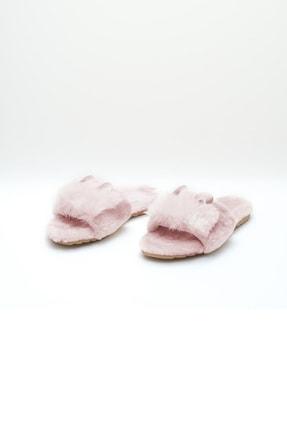 OCT Shoes Pudra Kulaklı Peluş Terlik 1028 1
