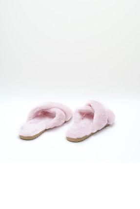 OCT Shoes Pembe Çapraz Peluş Ev Terliği 1026 3