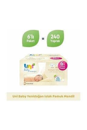Uni Baby Yenidoğan Islak Mendil 6'lı Paket 240 Yaprak 8692190010406 0