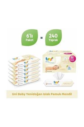 Uni Baby Yenidoğan Islak Mendil 6'lı Paket 240 Yaprak 8692190010406 1
