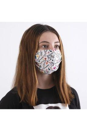 Dijimoda Yıkanabilir Boyun Askılı Pamuklu Kumaş Maske 0