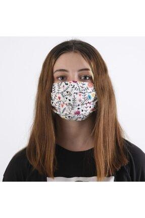Dijimoda Yıkanabilir Boyun Askılı Pamuklu Kumaş Maske 4