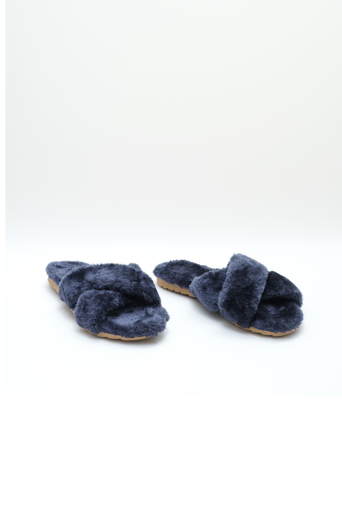OCT Shoes Lacivert Kadın Terlik TS1026 2