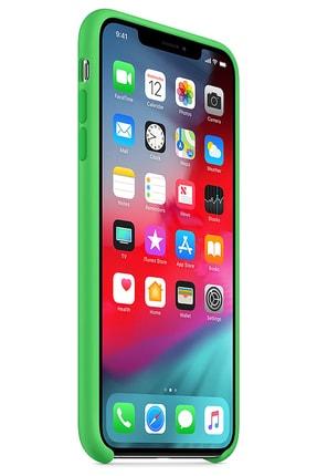 Ebotek Iphone Xs Max Kılıf Silikon Içi Kadife Lansman Yeşil 1