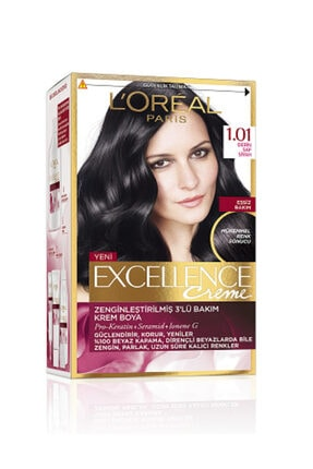 L'Oreal Paris Excellence Saç Boyası 1.01 Siyah 0