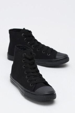 Ayakkabı Modası Kadın Siyah  Keten Uzun Convers 0