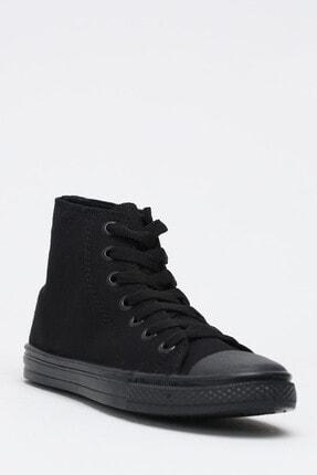 Ayakkabı Modası Kadın Siyah  Keten Uzun Convers 3