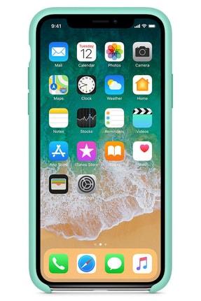 Ebotek Iphone Xs Max Kılıf Silikon Içi Kadife Lansman Turkuaz 1