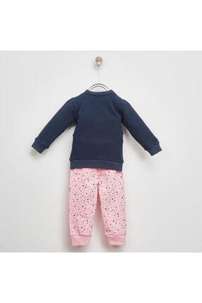 Panço Kız Çocuk Pembe Baskılı Pijama Takımı 2021gk39006 1