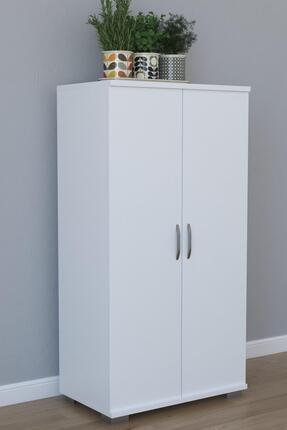 Remaks 110 cm 2 Kapaklı Çok Amaçlı Mutfak Dolabı - Beyaz 0