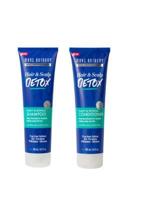 Marc Anthony Saç Ve Saç Derisi Için Detoks Arındırıcı Ve Tazeleyici Şampuan + Saç Kremi 0