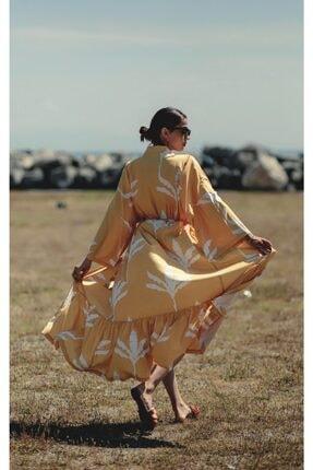 La Fontaine Kadın Beyaz Desenli Kimono 0