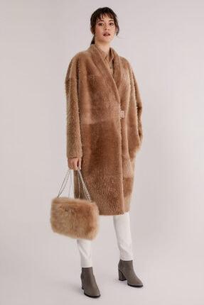Hakiki Yünlü Deri Palto resmi