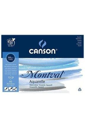 Canson Montval 300gr. 12yp. A3 Suluboya Defteri 0