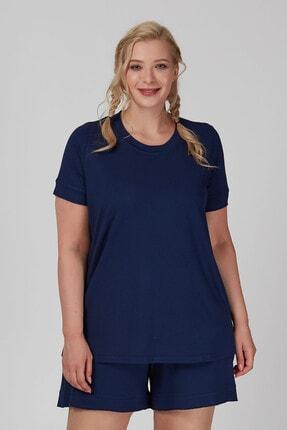 Büyük Moda Kolu Fırfırlı Basıc Tişört 0