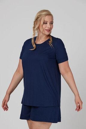 Büyük Moda Kolu Fırfırlı Basıc Tişört 1