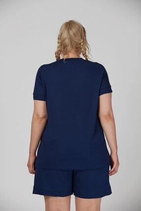 Büyük Moda Kolu Fırfırlı Basıc Tişört 3