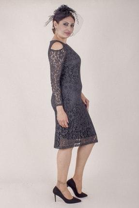 Paristan Kadın Siyah Abiye Elbise Dantel Ve Swarovski Taşlı 2