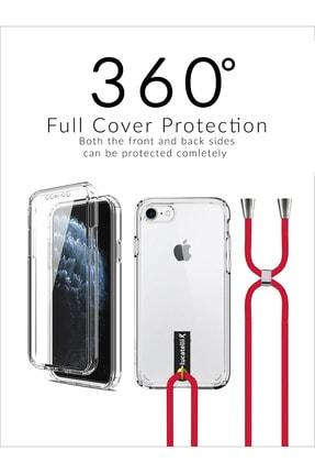 Lucatelli Iphone 6/6s Boyuna Askılı Ön Arka 360 Şeffaf Kılıf+kitap 0