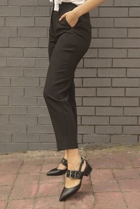 Straswans Amelia Deri Topuklu Ayakkabı Siyah 1