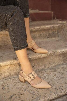 Straswans Amelia Deri Topuklu Ayakkabı Ten 0