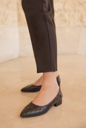 Straswans Worde Deri Topuklu Ayakkabı Siyah 1