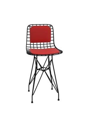 Kenzlife Knsz Ufak Boy Tel Bar Sandalyesi 1'li Uslu Syhkrm Sırt Minderli 55 cm Oturma Yüksekliği 2