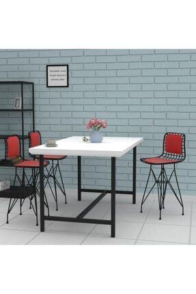 Kenzlife Knsz Ufak Boy Tel Bar Sandalyesi 1'li Uslu Syhkrm Sırt Minderli 55 cm Oturma Yüksekliği 3
